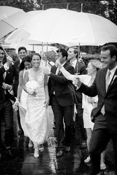 "Emily Driscoll states ""the rain was a blessing in the way it amped up the camaraderie between everyone. It was a real team effort. Bridal Hair And Makeup, Wedding Makeup, Hair Makeup, Summer Wedding, Wedding Day, Nantucket Wedding, Over The Moon, Natural Makeup, Blessing"