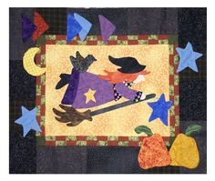 halloween witch applique - Google Search