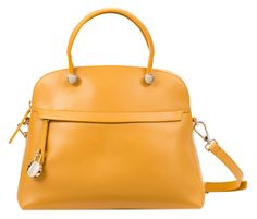 Sac en cuir Piper Jaune by FURLA