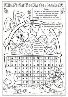 What's in the Easter basket? worksheet - Free ESL printable worksheets made by teachers