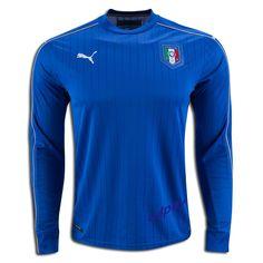 2016 UEFA Euro Italy Long Sleeve Home Soccer Jersey Soccer Gear 44d05fb5e