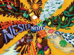 Gusta provocarea Nestea by Felix Hornoiu, via Behance