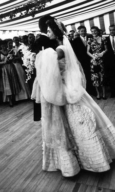John and Jackie Kennedy during their bridal waltz, September 12, 1953.