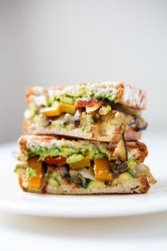 """""""Grilled Vegetable Sandwiches with Avocado or Balsamic & Mozzarella"""