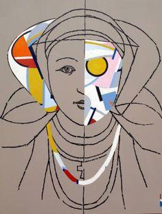 """Saatchi Art Artist Ximo Gascón; Painting, """"Reina VII"""" #art"""