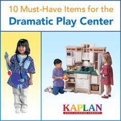 Dramatic play is one of the most important centers in an early education classroom! Find out what items you can't miss out on: http://buff.ly/1dNlFGN?utm_content=buffer13e38&utm_medium=social&utm_source=pinterest.com&utm_campaign=buffer