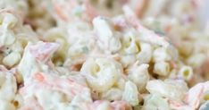 Elbow Macaroni Salad -- part of The Best Picnic and Potluck Recipes Shrimp Macaroni Salad, Creamy Macaroni Salad, Creamy Coleslaw, Seafood Salad, Side Dishes Easy, Side Dish Recipes, Dinner Dishes, Food Dishes, Potluck Dishes