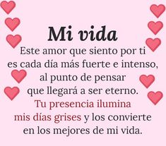 #amor #felicidad #pareja #esposos B &J Te amo Spanish Love Phrases, Amor Quotes, Relationship Quotes, Relationships, Love You, Lily, Romance, Mario, In Love Quotes