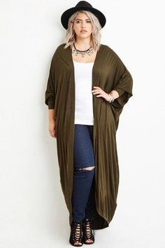 4c34645d04f Forever 21 Plus Size Maxi Dolman Cardigan