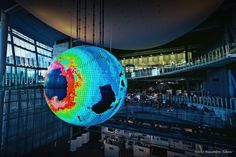 Japan's Gigantic OLED Globe Shows Near-Real Time Displays