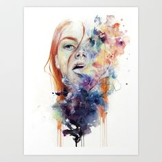 this thing called art is really dangerous Art Print by Agnes-cecile - $20.00