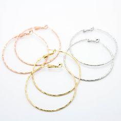 Faceted hoop earrings – Imsmistyle.