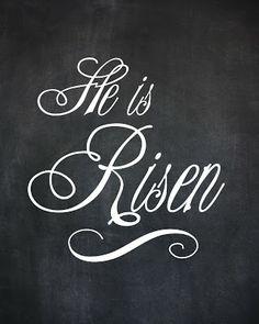Free Easter Chalkboard art printable