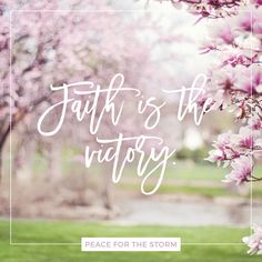 Faith is the victory! / Faith is the victory! / O glorious victory / That overcomes the world.