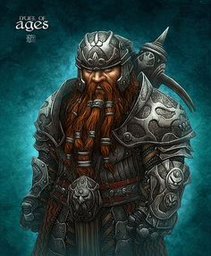 Dwarf Beautiful Fantasy Illustrations by Kerem Beyit Fantasy Warrior, Fantasy Dwarf, Fantasy Male, Fantasy Rpg, Medieval Fantasy, Dungeons And Dragons Characters, Fantasy Characters, Character Portraits, Character Art