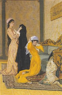 Osman Hamdi Bey was an Ottoman administrator, intellectual, art expert and also a prominent and pioneering painter. He was also an accomplished archaeologist, and is considered as the pioneer of the museum curator's profession in Turkey Exotic Art, Pics Art, Turkish Art, Historical Art, Ad Art, Illustrations And Posters, Portrait Art, Islamic Art, Art Oil