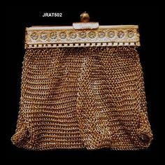 Vintage Gold Plated Gate Neck Mesh Purse