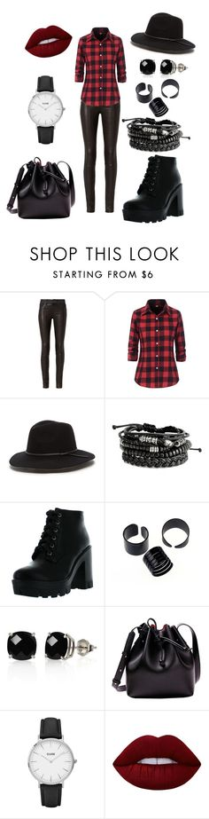 """""""No. 231"""" by honey-kika ❤ liked on Polyvore featuring rag & bone, Bamboo, Belk & Co., CLUSE and Lime Crime"""