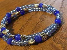 A personal favorite from my Etsy shop https://www.etsy.com/listing/288251495/blue-wrap-bracelet