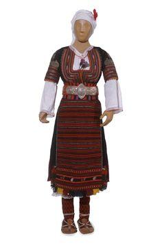 Bulgarian  Woman's festive costume - Kustendil Area