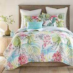 Tropical Bedding, Beach Bedding, Coastal Bedding, Coastal Bedrooms, Tropical Bedrooms, Guest Bedroom Decor, Bedroom Themes, Bedroom Ideas, Master Bedroom