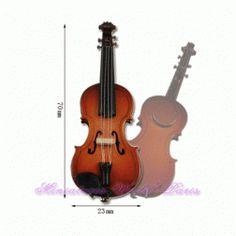Violon en bois - MAGNETV 1/12ème #maisondepoupées #dollhouse #violon #violin #instrument #musique #music #miniatures #miniature #bois