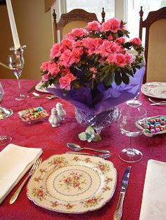 Easter table setting & Easter table setting   Easter Bunny Beebe   Pinterest   Easter table ...