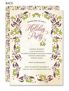 Christmas Swag Holiday Invitation #holiday #party #invitation