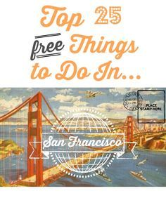 25 Free Things to do in San Francisco 25 FREE things to do in San Francisco. Free museums, parks and FREE things to do in San Francisco. Free museums, parks and more! Time Travel, Places To Travel, Travel Destinations, Places To Go, Pismo Beach, Road Trip Los Angeles, West Coast Usa, Pacific Coast, Lac Tahoe