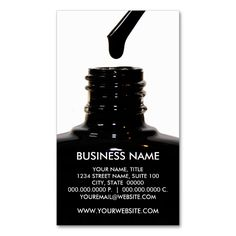Nail Polish Business Cards. Make your own business card with this great design. All you need is to add your info to this template. Click the image to try it out!