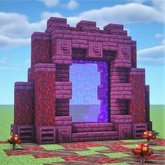 Minecraft Portal, Minecraft House Plans, Minecraft Cottage, Minecraft Castle, Cute Minecraft Houses, Minecraft Room, Minecraft House Designs, Amazing Minecraft, Minecraft Blueprints