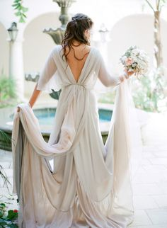 This dress was made by the bride's mother! http://www.stylemepretty.com/2015/01/13/california-ranch-wedding-with-handmade-dress/ | Photography: Lacie Hansen - http://laciehansen.com/