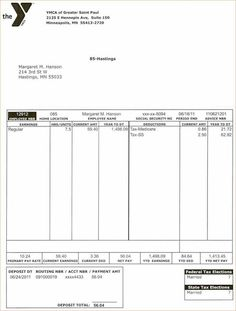 Free Payroll Stub Template Make Sure When You Get Paid To Always Ask For Your Pay Stub To See .