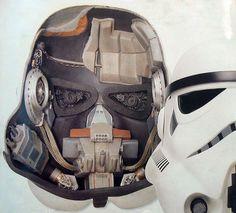 Inside a Stormtrooper helmet
