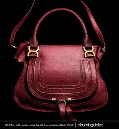 The perfect berry-hued Chloé shoulder bag. #bloomiesyearofthehorse
