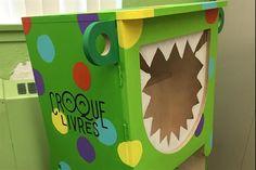 Voici Cromignon, le croque-livres du Centre communautaire Le Trivent à Sainte-Brigitte-de-Laval. #croquelivres #littlefreelibrary #lecture #enfants #livres