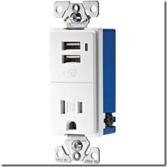 MUST INSTALL ONE OF THESE ASAP:  15-Amp White Decorator Single Electrical Outlet with USB ports built in..   No need for the converters!!