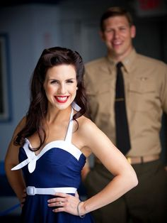 He's a Navy pilot, making this vintage military-inspired engagement shoot that much more cute!