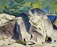 Group of Seven Signed Limited Edition Artist Proof, Rock Cluster by A. Group Of Seven Artists, Group Of Seven Paintings, Canadian Painters, Canadian Artists, Landscape Art, Landscape Paintings, Art Grants, Emily Carr, Fine Art