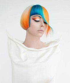 Modern edgy hair color