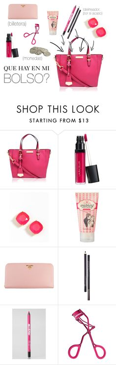"""Que hay en mi bolso?"" by keyla-de-lynch ❤ liked on Polyvore featuring Carvela Kurt Geiger, Kate Spade, banila co., Prada, Chantecaille, Ardency Inn and Sephora Collection"