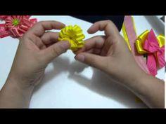 como hacer una flor para decoracion de accesorios para el cabello