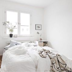 Bright light + white sheets are all I need to be comfy.