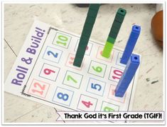 Building Number Sense in Kindergarten and First Grade! Plenty of hands-on games and activities that have students identifying, ordering, and comparing numbers 0-20. by noname76