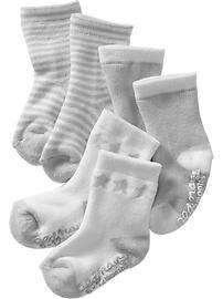 Little Bundles Sock 3-Packs for Baby