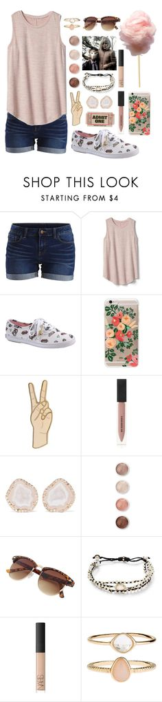 """""""✌"""" by fairly-local-on-the-radio ❤ liked on Polyvore featuring VILA, Gap, Keds, Rifle Paper Co, Lucky Brand, Burberry, Kimberly McDonald, Terre Mère, Tai and NARS Cosmetics"""