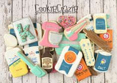 Baking Cookies Decorated Cookie Collection - Paige's Home Best Sugar Cookie Recipe, Best Sugar Cookies, Fancy Cookies, Cute Cookies, No Bake Cookies, Cupcake Cookies, Baking Cookies, Cookies Et Biscuits, Cookie Recipes