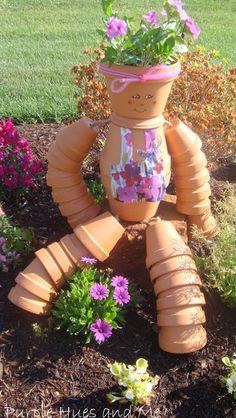 Terra Cotta Flower Pot Girl