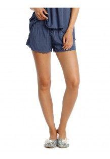 Swiss Dot Blue Shorts