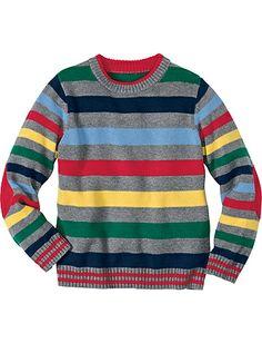 Multistripe Sweater from #HannaAndersson.